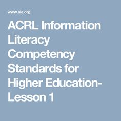 information literacy in education essay Essay about the importance of information literacy - information literacy skills are used for academic purposes, such as research papers and group presentations they are used on the job—the ability to find, evaluate, use and share information is an essential skill.