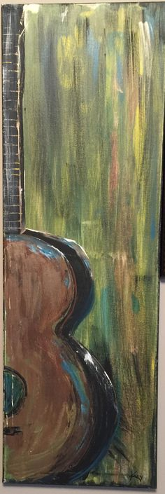Acoustic guitar abstract painting