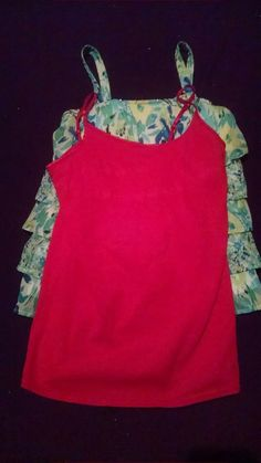 Justice Floral Tank Justice Pink Tank Girls Clothing Tanks Size 16 Justice Girls #Justice