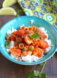 A bowl of Shrimp Veracruz for dinner is a definite winner!