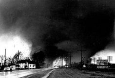 Palm Sunday 1965 tornadoes in Northern Indiana.  There were numerous tornadoes that afternoon from Iowa, Illinois, Wisconsin, to Indiana, Michigan, and Ohio.