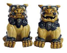 F/S Standing Front SHISA M-size Okinawa Ryukyu Japan Traditional Guardian Lion #Nakagusukukama