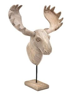 Moose Head Stand (7037) #Decoratie #Pakhuis3 Moose Head, Head Stand, Bookends, Home Decor, Decoration Home, Room Decor, Home Interior Design, Home Decoration, Interior Design