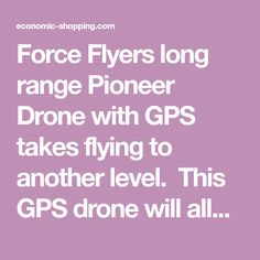 Pioneer Drone With GPS For Auto Map Positioning, Video, Altitude Hold, 1 Touch Return