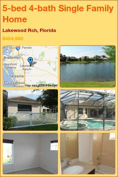 5-bed 4-bath Single Family Home in Lakewood Rch, Florida ►$454,900 #PropertyForSale #RealEstate #Florida http://florida-magic.com/properties/5286-single-family-home-for-sale-in-lakewood-rch-florida-with-5-bedroom-4-bathroom