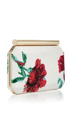 Satin Beaded Embroidered Saya Clutch by OSCAR DE LA RENTA Now Available on Moda Operandi