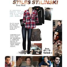 Designer Clothes, Shoes & Bags for Women Teen Wolf Outfits, Nerd Outfits, Tv Show Outfits, Fandom Outfits, Edgy Outfits, Cute Outfits, School Outfits, Badass Outfit, Stiles