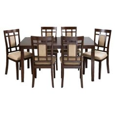 Walnut MICROFIBER 7 pc DINETTE SET