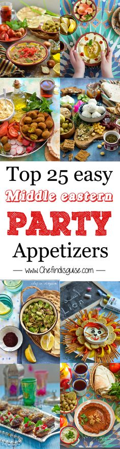 Top 25 easy middle eastern party appetizers from chef in disguise. Dips, crackers, and other great appetizers