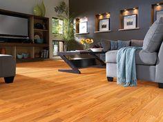 "Shaw Floors Bellingham Oak Butterscotch 2 1/4"". Smooth Solid Oak hardwood floor."