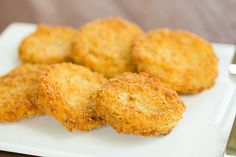 Fried Green Tomatoes Recipe by @Michelle (Brown Eyed Baker) :: www.browneyedbaker.com
