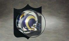 Mirrored Mini Helmet W/Plaque Outline - Wall Mount Acrylic Display Case B-2001 by N Case It.  Buy it @ ReadyGolf.com