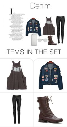 """Denim"" by ebj332 on Polyvore featuring arte"
