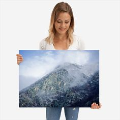 """Beautiful """"Frozen mountain"""" metal poster created by Adi Antone. Our Displate metal prints will make your walls awesome. Mountain Landscape, Frozen, Poster Prints, Tapestry, Metal, Beautiful, Hanging Tapestry, Tapestries, Metals"""