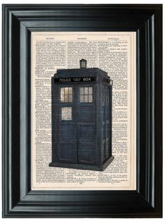 Doctor Who Tardis dictionary art print book by PeregrinVintage, €6.99