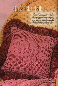 Ravelry: Rose Filet Pillow pattern by Susan Lowman