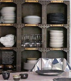You might wonder what industrial style is for interior design. We have lots of examples and ideas to show you what. Industrial interiors are here to stay! Industrial Interior Design, Industrial Interiors, Diy Interior, Industrial Furniture, Modern Interiors, Modern Shelving, Industrial Shelving, Industrial Chic, Kitchen Industrial