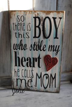 So there is this boy...distresed original by JolieCustomWoodArt