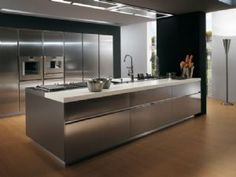 Brushed Steel Kitchen Cupboard Cover: Self Adhesive Vinyl - multicoverings.com