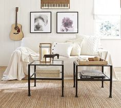 Decorating with Dropcloth Slipcovers — Tips
