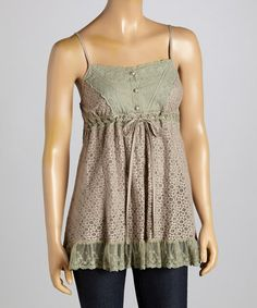 Another great find on #zulily! Cocoa Lace Sweetheart Tank #zulilyfinds