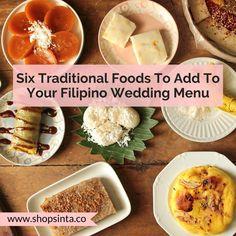 Six Traditional Foods To Add To Your Filipino Wedding Menu – Sinta & Co. Wedding Reception Food, Wedding Dinner, Wedding Desserts, Wedding Menu, Fall Wedding, Rustic Wedding, Wedding Planning, Dream Wedding, Wedding Ideas