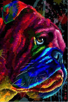 Bulldog Pics, Bulldog Puppies, English Bulldog Art, Mini English Bulldogs, Funny Dogs, Cute Dogs, Wallpaper English, Animals And Pets, Cute Animals