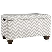 Kids Toy Boxes: Upholstered Diamond Patterned Storage Bench in Benches