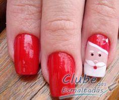 Santa Claus Nails Holiday Nail Art, Christmas Nail Designs, Christmas Nail Art, Christmas Treats, Christmas Time, Xmas, Nice Nails, Funky Nails, Fabulous Nails