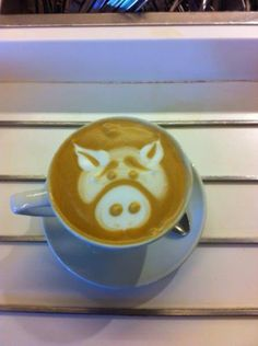 Percy Pig #latteart