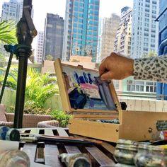 Richard Claremont #Art and #Inspiration: Plein Air - Hong Kong