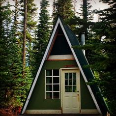 Another mini mountain cabin from High Camp at Scottish Lakes in the Central Cascades. Love these.  #mountaincabin #aframe #tinyhouse #highcampatscottishlakes #weekendgetaway #cozyshack #cabinlove #cabinporn #cabinoftheweek #cabincollective @thecabinchronicles #pnwcollective #alpinelakeswilderness by pnw_hikergirl
