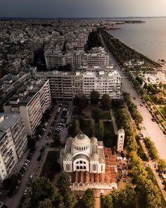 Thessaloniki, Macedonia, Paris Skyline, Greece, Mansions, Country, House Styles, Travel, Beautiful