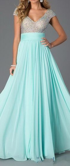Sequin Prom Dresses, Mint Prom Dres