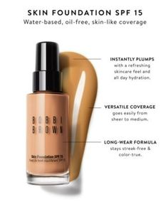 Flawless coverage at a great price. Nothing beats this foundation! Bobbi Brown Skin Foundation, Oil Free Foundation, Foundation Brush, Natural Contour, Natural Skin, Even Out Skin Tone, Makeup Collection, Oily Skin, Moisturizer