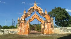 Portada Hacienda Mucuyché, Yucatán, México
