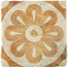 Merola Tile Costa Arena Decor Zinnia 7-3/4 in. x 7-3/4 in. Ceramic Wall and Floor Tile (11.5 sq. ft. / case)-FEB8CAD1 - The Home Depot