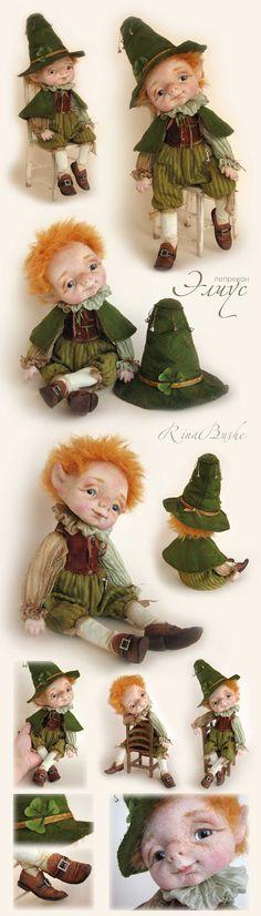Элиус Felt Dolls, Doll Toys, Wet Felting, Needle Felting, Polymer Clay Figures, Clay Fairies, Kawaii Doll, Baby Fairy, Wool Art