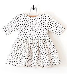 Dalmatian Print Baby Girl Dress #organic #etsy