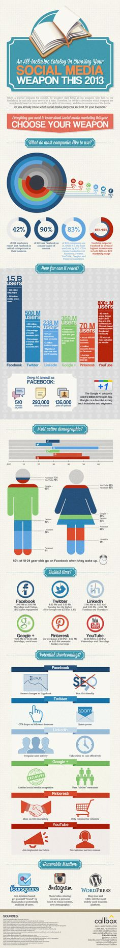 Social Media weapon this 2013 #infographic