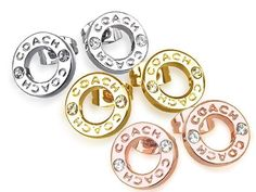 Simply Stud for everyday beauty --> Coach Earrings Open Ring Circle Stud Silver or Gold SWAROVSKI /Box F99934 #Coach #Stud #Accessories $59.77