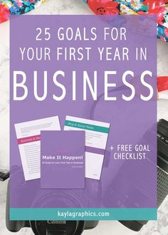 For Creatives: 25 Goals for your First Year in Business Free Checklist Business Stories, Business Advice, Photography For Beginners, Photography Tips, Travel Photography, Creating A Mission Statement, Effective Marketing Strategies, Naming Your Business, Career Inspiration