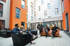 The courtyard in The Foundry student accommodation is IDEAL! Great space for socialising with your friends and we even hold great events for tenants such as our recent student BBQ :)