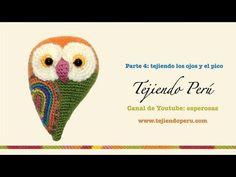 ▶ Pareja de búhos tejida a crochet (amigurumi) Parte 4: tejiendo los ojos y el pico - YouTube