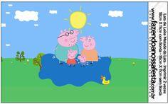 Rótulo Lata de Leite Peppa Pig e Família: