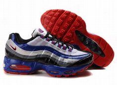 c16ef2390ea4e Nike Air Max 95 Mens In Red Blue Ashy Black Air Max 95 Mens