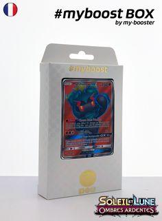 Coffret #myboost MARSHADOW GX FULL ART Contient 10 cartes Pokemon francaises Soleil et Lune 3 neuves dont : - la carte MARSHADOW GX FULL ART 137/147 150PV de la serie Soleil&Lune 3 - 1 carte Holographique ou Reverse - 1 carte 100PV - 1 carte 90PV - 1 carte 80PV my-booster, l offre POKEMON PREMIUM