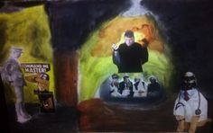 Traditional art Meeting of the Absurd by Pguimaraes74 on Etsy, $50.00