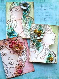 Watercolor Bloom cards with Cari Fennell on Live with Prima-video how-to