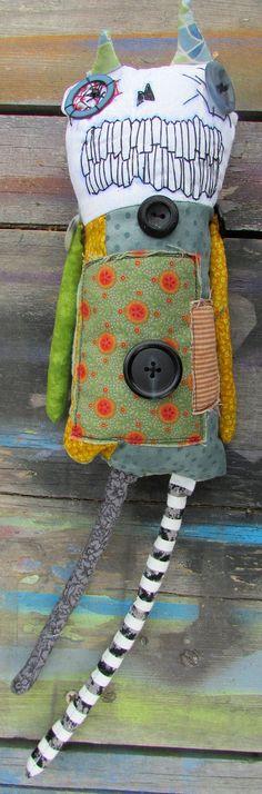Photobomb Gremlin handmade monster art doll by monstermaud on Etsy